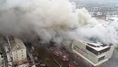 Hiện trường vụ cháy Trung tâm thương mại ở tỉnh Kemerovo, Tây Siberia. Ảnh: Bộ các tình trạng khẩn cấp Nga
