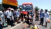 Hiện trường một vụ tai nạn giao thông khiến 5 người thương vong