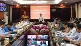 Hội nghị trực tuyến về xây dựng hệ thống chính trị tại các đơn vị hành chính - kinh tế đặc biệt do Ban Tổ chức Trung ương tổ chức chiều 23-4. Ảnh: VOV