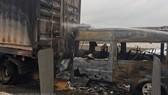 Hiện trường vụ tai nạn khiến 2 người tử vong. Ảnh: TTXVN