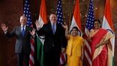 Bộ trưởng Quốc phòng James Mattis và Ngoại trưởng Mike Pompeo của Mỹ đã gặp Ngoại trưởng Sushma Swaraj và Bộ trưởng Quốc phòng Nirmala Sitharaman của Ấn Độ. Nguồn: REUTERS