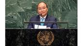 Thủ tướng Nguyễn Xuân Phúc phát biểu tại phiên họp của Liên Hợp Quốc