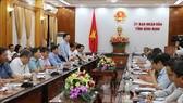 Trước đó, UBND tỉnh Bình Định chỉ đạo các sở, ngành, địa phương trong tỉnh về việc thực hiện cấp bách các giải pháp chống khai thác thủy sản trái phép, không rõ nguồn gốc (IUU). Ảnh: TTXVN