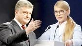 Tổng thống Ukraine Petro Poroshenko và cựu Thủ tướng Yulia Tymoshenko