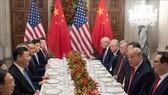 Tổng thống Mỹ Donald Trump (thứ 2, phải) và Chủ tịch Trung Quốc Tập Cận Bình (thứ 3, trái) trong cuộc gặp bên lề Hội nghị thượng đỉnh Nhóm các nền kinh tế phát triển và mới nổi hàng đầu thế giới (G20) ở Buenos Aires, Argentina ngày 1-12-2018. Nguồn: TTXVN
