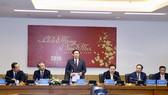 Phó Thủ tướng Vương Đình Huệ phát biểu tại cuộc làm việc tại VNPT. Ảnh: VGP