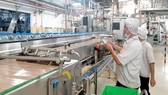 Dây chuyền sản xuất nước La Vie  ở nhà máy Long An