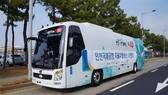 Xe buýt tự lái tại Seoul, Hàn Quốc. Nguồn: TTXVN