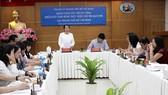 Phó Bí thư Thành ủy TPHCM Võ Thị Dung  phát biểu tại buổi làm việc