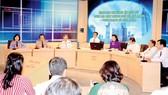 """Quang cảnh buổi Lắng nghe và trao đổi """"Công tác thi hành án dân sự  trên địa bàn TPHCM - thực trạng và giải pháp"""" ngày 4-8"""