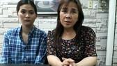 Chị Huỳnh Tiểu Hương (bên phải) cùng con nuôi Huỳnh Tiểu Như