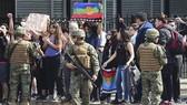Binh sĩ được triển khai để giải tán người biểu tình ở thủ đô Santiago, Chile ngày 19-10-2019. Nguồn: TTXVN