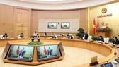 Ngày 16-3, Thủ tướng  Nguyễn Xuân Phúc chủ trì phiên họp Thường trực Chính phủ nghe báo cáo của Ban Chỉ đạo quốc gia về phòng chống dịch Covid-19.  Ảnh: TTXVN