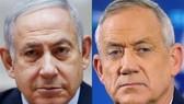 Thủ tướng Israel Benjamin Netanyahu (trái) và lãnh đạo đảng Xanh-Trắng, cựu Tham mưu trưởng Lực lượng phòng vệ Israel (IDF) Benny Gantz. Nguồn: TTXVN