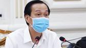 Phó Chủ tịch Thường trực UBND TPHCM  Lê Thanh Liêm phát biểu tại buổi họp