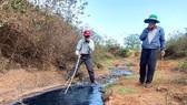 Nước thải được xả ra từ đường cống thoát nước  trong CCN Tân An