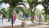 Công viên khu mũi tàu Nam Long, phường Phú Thuận,  quận 7, TPHCM được chuyển hóa từ bãi đất trống
