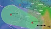 Tâm áp thấp nhiệt đới suy yếu từ bão số 2 nằm trên đất liền Thanh Hóa lúc 13 giờ