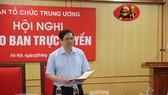 Đồng chí Phạm Minh Chính, Ủy viên Bộ Chính trị, Bí thư Trung ương Đảng, Trưởng Ban Tổ chức Trung ương phát biểu chỉ đạo tại Hội nghị