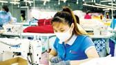 May xuất khẩu sang Mỹ, Nhật Bản, châu Âu tại Tổng Công ty Phong Phú. Ảnh: CAO THĂNG