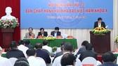 Quang cảnh hội nghị lần thứ 13 Ban Chấp hành Hội nhà báo Việt Nam khóa X.