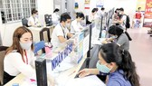 Người lao động làm thủ tục hưởng chính sách bảo hiểm thất nghiệp  tại Chi nhánh BHTN Tân Bình - Trung tâm Dịch vụ việc làm TP Hồ Chí Minh