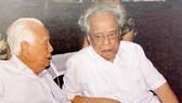 Đồng chí Trần Trọng Đăng Đàn (phải) và anh trai, đồng chí Trần Trọng Tân