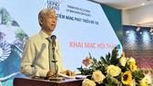 Phó Chủ tịch UBND TPHCM Võ Văn Hoan phát biểu tại Hội thảo. Ảnh: VOH