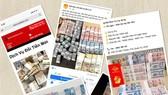 Nhiều trang web, trang mạng xã hội ngang nhiên rao dịch vụ  đổi tiền mới, tiền lẻ trên mạng. Ảnh: HUY PHAN