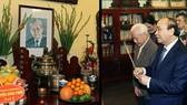 Thủ tướng Nguyễn Xuân Phúc dâng hương tưởng nhớ Tổng Bí thư Lê Duẩn.  Ảnh: TTXVN