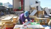 Lên hàng hải sản ở cảng cá Phước Tỉnh, huyện Long Điền,  tỉnh Bà Rịa - Vũng Tàu