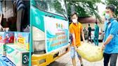 Chuyến xe yêu thương của Tỉnh đoàn Bình Phước hỗ trợ người dân TPHCM