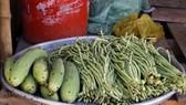Ruồi bâu đen hàng hóa, thực phẩm của tiểu thương chợ Sang Trắng, cạnh Công ty Kwong Lung - Meko