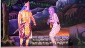Đoàn Nghệ thuật Khmer Sóc Trăng biểu diễn Dù kê. Ảnh: LÊ BÌNH