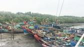 Tàu thuyền đã vào âu tránh bão Tembin tại huyện Cần Giờ, TPHCM ngày 25-12-2017