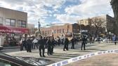 Cảnh sát phong tỏa hiện trường vụ việc xảy ra tại quận Brooklyn, New York, Mỹ, ngày 4-4-2018. Ảnh: REUTERS