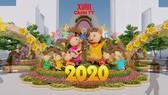 Ngày 8-1-2020 thi công Đường hoa Nguyễn Huệ Xuân Canh Tý 2020