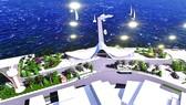 Phối cảnh tổng quan Cảng tàu khách Côn Đảo theo phương án thiết kế được điều chỉnh
