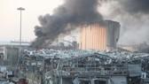 Cột khói cao bốc lên từ vụ nổ. Ảnh: Xinhua