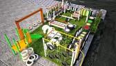 Phối cảnh 3D một trong các sân chơi thiếu nhi sẽ được xây dựng trong khuôn khổ chương trình.