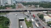 Đầu tư, nâng cấp nút giao thông Mỹ Thủy giúp giao thông khu vực cảng Cát Lái, quận 2, tốt hơn. Ảnh: CAO THĂNG