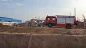 Hiện trường một vụ tai nạn lao động tại Khu công nghiệp Giang Điền, huyện Trảng Bom, tỉnh Đồng Nai