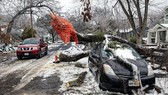 Cảnh đổ nát sau trận bão tuyết lịch sử đầu năm nay ở Texas, Mỹ. Ảnh: New York Times