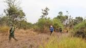 Bộ đội Biên phòng tỉnh Bình Phước trên đường tuần tra biên giới. Ảnh: HOÀNG BẮC