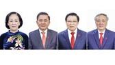 Từ trái sang, các đồng chí: Trương Thị Mai, Trần Cẩm Tú, Phan Đình Trạc và Nguyễn Hòa Bình