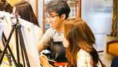Bạn trẻ thích thú với các lớp học vẽ tranh