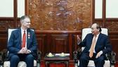 Chủ tịch nước Nguyễn Xuân Phúc và Đại sứ Daniel Kritenbrink tại buổi tiếp
