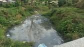 Rạch Suối Nhum đoạn qua Đại học Quốc gia TPHCM  vẫn còn nguyên trạng, vừa ô nhiễm lại mất mỹ quan
