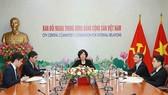 Bà Nguyễn Thị Hoàng Vân, Phó Trưởng Ban Đối ngoại Trung ương, làm Trưởng đoàn tại Cuộc họp. Ảnh: TTXVN