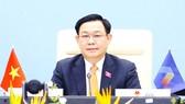 Chủ tịch Quốc hội Vương Đình Huệ phát biểu  tại Phiên toàn thể thứ nhất của AIPA-42. Ảnh: TTXVN